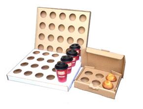 Charola de cartón para café