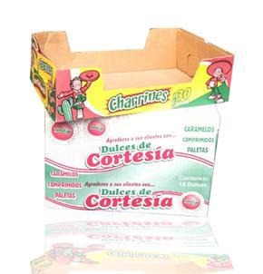 Caja de cartón para dulces y frituras