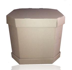 Contenedor de cartón octagonal